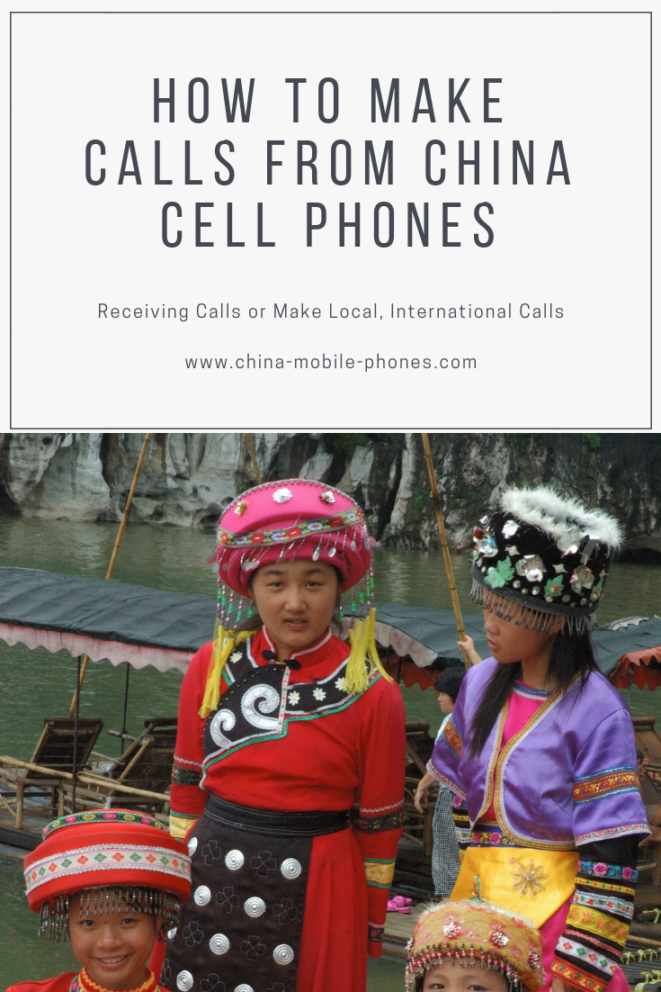 A guide make a call from China cell numbers