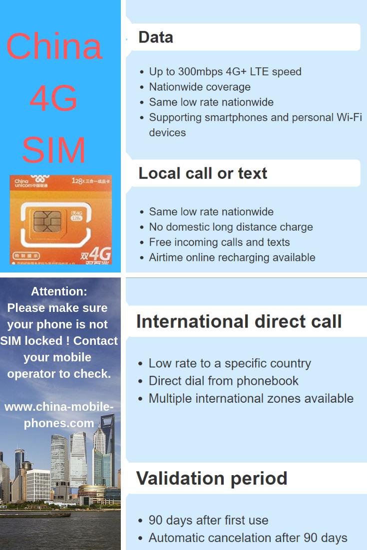 China 4G sim card
