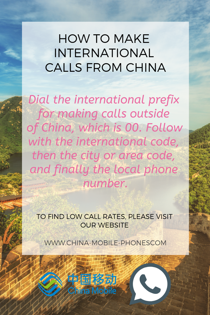 how to make international calls from China