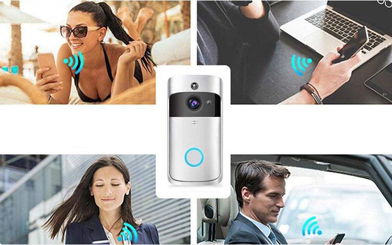 无线可视门铃APP将使你能够看到家门口访客并与之交谈