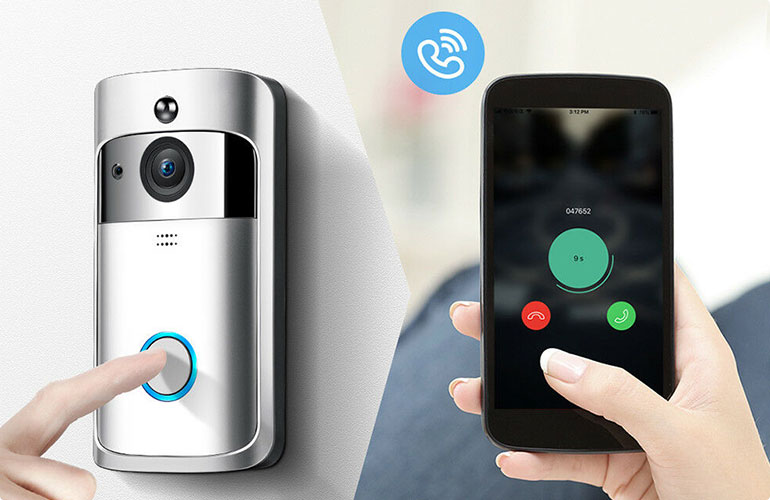 无线可视门铃向智能手机、平板电脑或普通电脑提供即时警报