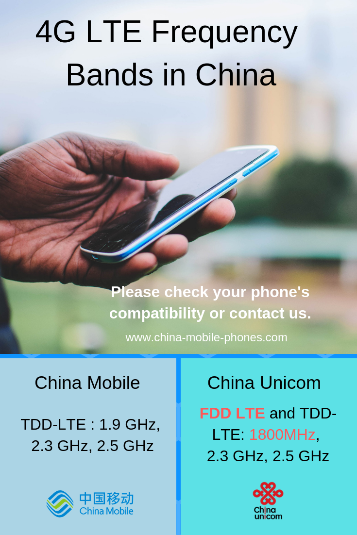 China Mobile 4G LTE frequency bands
